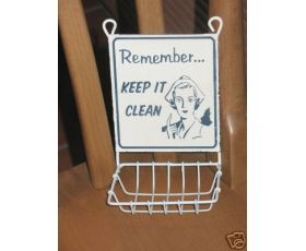 Metal Soap Holder Keep it Clean Tray Dish