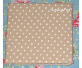 Pillowcases Taupe Coffee Polka dot Single Brushed Cotton