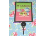 Coat Hook Cupcakes Pink Apron Kitchen Retro Sign
