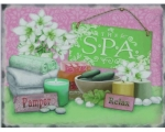 The Spa Metal Wall Sign Retro Vintage Bathroom