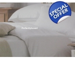 White Cream Stripe SuperKing Duvet Sashi Tuscany..