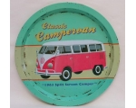 Wiscombe Campervan Tray Retro Pink Green camper ..