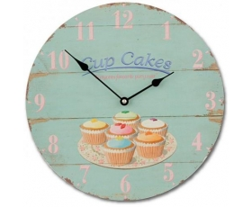 Wiscombe Kitchen Wall Clocks Cup Cakes Retro