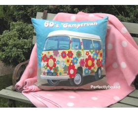 Wiscombe 60s Campervan Cushion Cover Vintage Retro