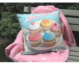 Wiscombe Afternoon Tea Cushion Cover Vintage Retro