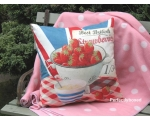 Wiscombe Strawberries Cushion Cover Vintage Retro