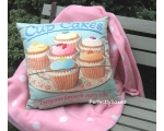 Wiscombe Cupcakes Retro Cushion Cover Vintage Re..