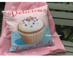 Wiscombe Delicious Fairy Cakes Cushion Cover Vin..
