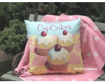 Wiscombe Gorgeous Cupcakes Cushion Cover Vintage..