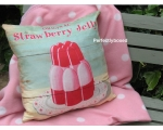 Wiscombe Strawberry Jelly Cushion Cover Vintage ..