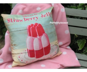 Wiscombe Strawberry Jelly Cushion Cover Vintage Retro