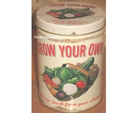 Wiscombe Grow Your Own Storage Tin Retro Kitchen Cannister