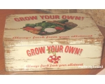 Wiscombe Grow Your Own Lunch Box Tin Retro Storage