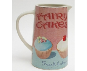 Wiscombe Jug Pitcher Fairy Cakes Pink Retro 650ml