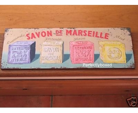 Wiscombe Long Plaque Savon de Marseille Soap Retro Sign