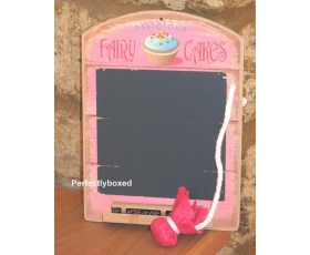 Wiscombe Mini Chalkboard Fairy Cakes Pink Retro Kitchen blackboard