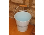 Enamel Storage Bucket Pail Sweets Blue Kitchen P..