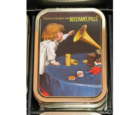 Robert Opie Keepsake Tin Retro Beechams Pills