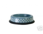 Pet Puppy Cat Bowl Small Polka Dots Chinese Blue..
