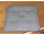Seat Chair Pad Cushion Blue Gingham Check Window..