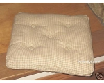 Seat Chair Pad Cushion Cream Gingham Check Windo..