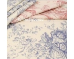 Toile de Jouy Tablecloth Pink 68 inch Round