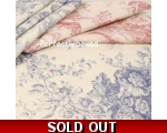 Toile de Jouy Tablecloth Pink 52 x 52 inch