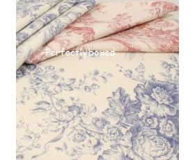 Toile de Jouy Blue Tablecloth 52 x 90 inch