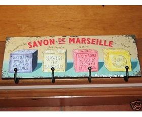 Wiscombe Coat Apron 4 Hook Savon de Marseille Plaque Retro