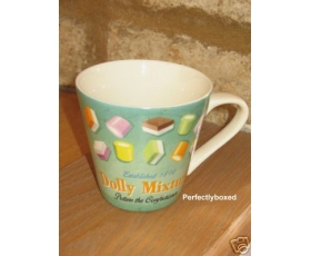 Wiscombe Retro Mug Dolly Mixtures Large Green