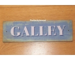 Wiscombe Door Sign Galley Retro Wooden Plaque
