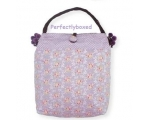 Greengate Bag Abigail Lavender Purple Floral Sho..