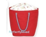 Greengate Red Canvas Storage Basket Roseberry Fl..