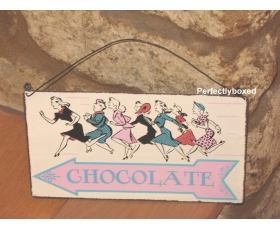 Metal Sign Chocolate This Way Wall Plaque