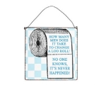 Metal Sign Loo Roll Men..