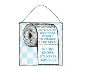 Metal Sign Loo Roll Men Plaque