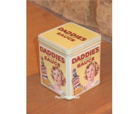 Storage Tin Daddies Sauce Tea Caddy Robert Opie Retro