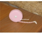 Handbag Tape Measure Pink Faux Leather