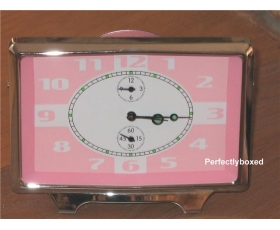 Retro Alarm Clock Pink Mechanical