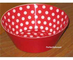 Melamine bowl Red polka dots spot Tub