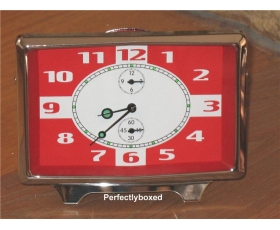 Retro Alarm Clock Red Mechanical Desk Office 60s 70s Style