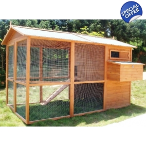Giant Villa Coop, suitable for 8 hybrid sized birds or 12-16 bantams