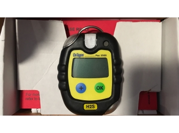Drager Pac 3500 H2S Hydrogen Sulfide Gas Monitor Meter Alarm