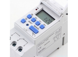 THC15A Din Rail LCD Power Program Timer AC 230V 16A