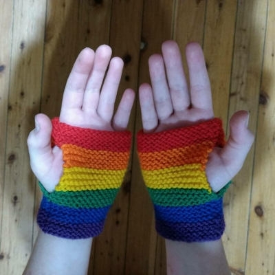 Fingerless Gloves- All flags