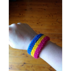 Pan flag wristband