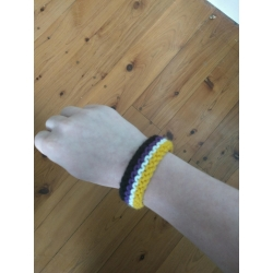 Non-Binary flag wristband