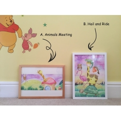 Baby Nursery Art / Original Box Framed Artworks