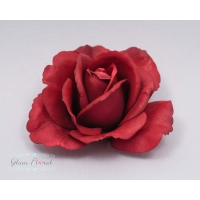 Red Medium Rose Hair Clip