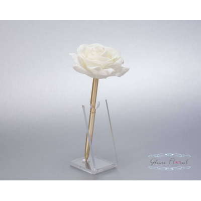 Cream Rose- Gold Guestb..